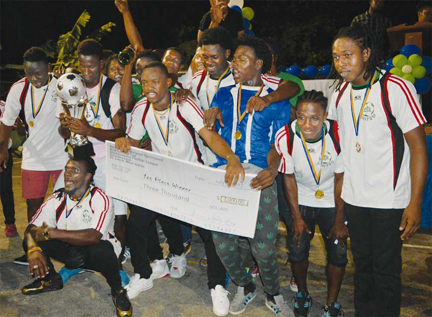 Image: Champion team DX United. (Photo: WICB)