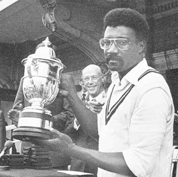 Image: Clive Lloyd holds the World Cup after West Indies win in 1979