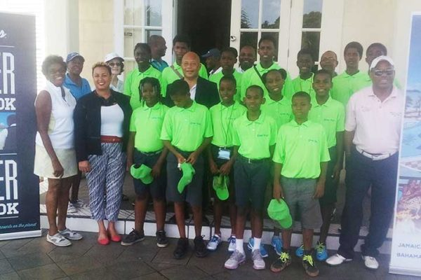Image: Junior Golfers at the Sandals launch of this year's Grow Well Summer Camp.