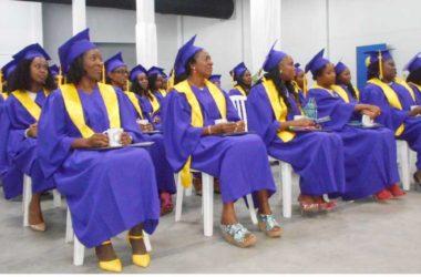 Image of last Sunday's graduating class at Spartan University.