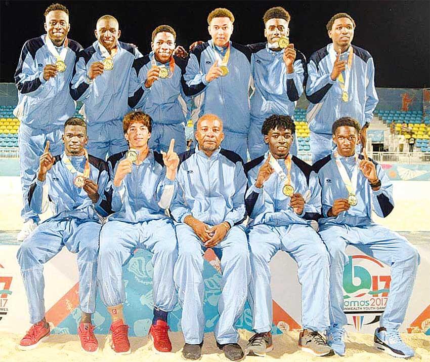 Image of Saint Lucia's Beach Football Team. (PHOTO: Team SLU)