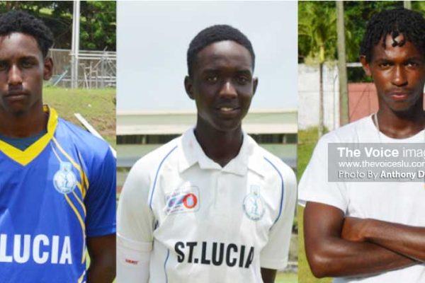 Image of Saint Lucia's Johnnel Eugene, Kimani Melius and Dane Edward. (Photo: Anthony De Beauville)