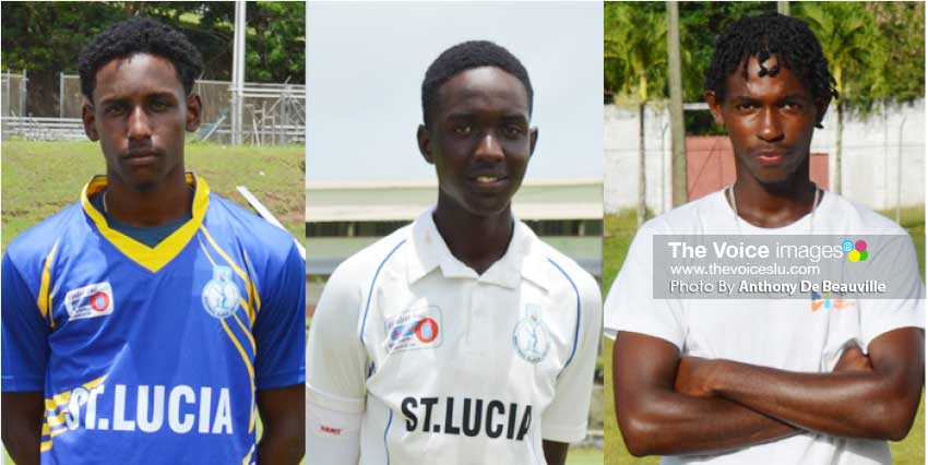 Image of Saint Lucia's Johnnel Eugene, Kimani Melius and Dane Edward. (Photo: Anthony De Beauville)