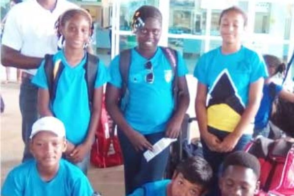Image: Team Saint Lucia currently in Trinidad and Tobago. (Photo: SLTA)