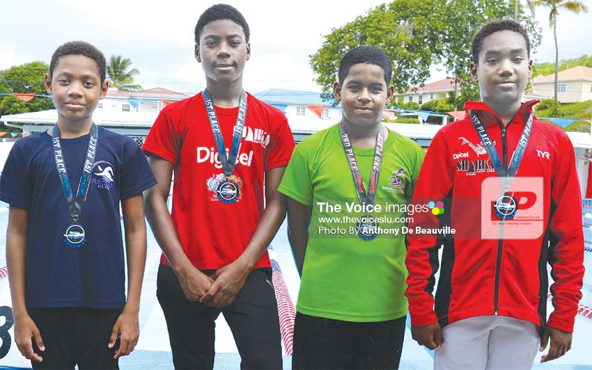 Image: (L-R) Theron Herelle, Ziv Reynolds, Ethan Hazell and Antoine Destang. (Anthony De Beauville)