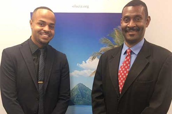 Image: (L-R) Andrew Ricketts of Total Public Relations and Dustan James, Director of Marketing Canada