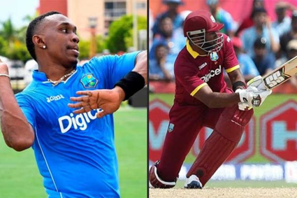 Image: (L-R) No room in Windies squad for Dwayne Bravo and Kieron Pollard against England