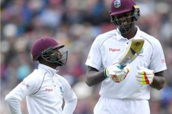 Image of Jermaine Blackwood and Jason Holder. (Photo: Getty Images)