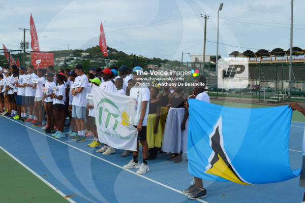 img: Participants at the opening ceremony on Sunday. (Photo: Anthony De Beauville)