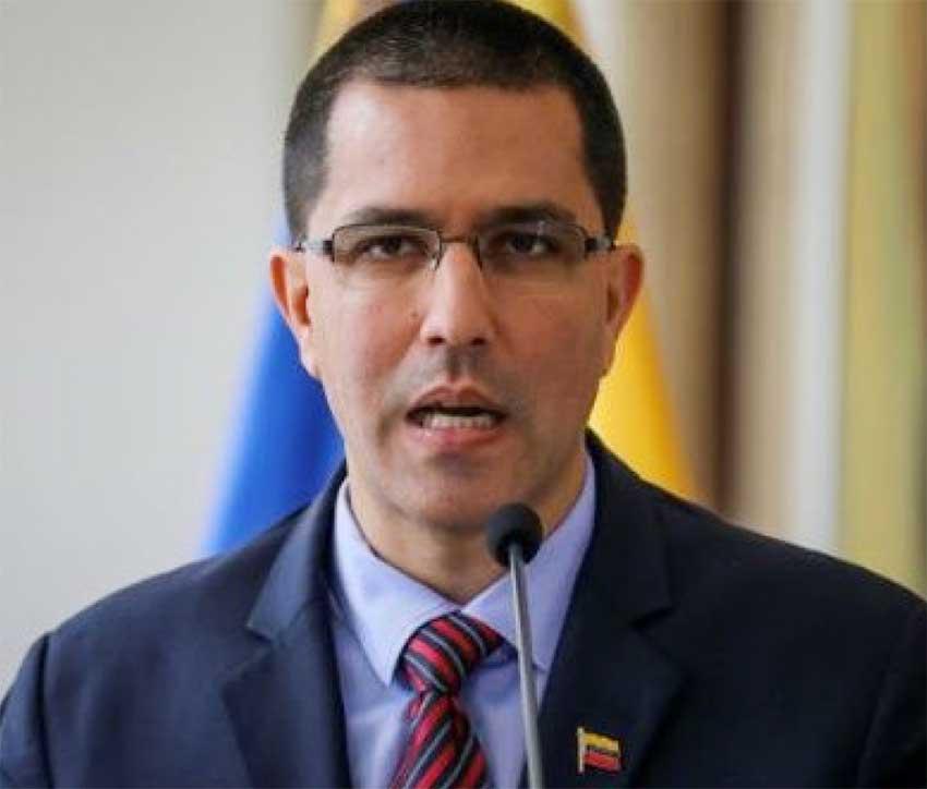 Image of Venezuela's Foreign Minister, Jorge Arreaza