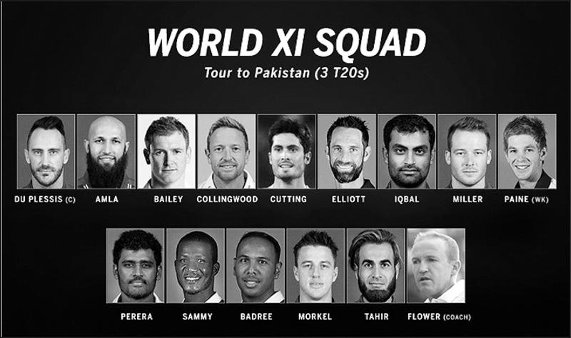 img:The World XI squad that will tour Pakistan next month. (PHOTO: ESPN Cricinfo Ltd)