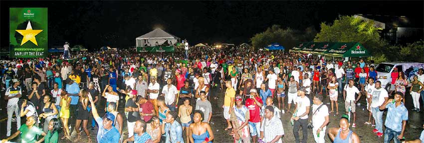 Image - A section of the crowd at the Kaka Bef in Vieux Fort for the Heineken Green Synergy semi-finals.