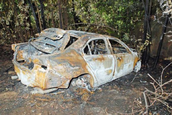Image: Burnt vehicles have now become a method of criminals covering their tracks.