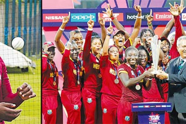 Image of Fast bowler Qiana Joseph (Saint Lucia); West Indies Women T20 Champions.