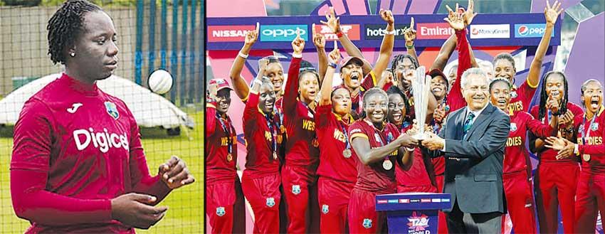Image of Fast bowler Qiana Joseph (Saint Lucia); West Indies Women T20 Champions.