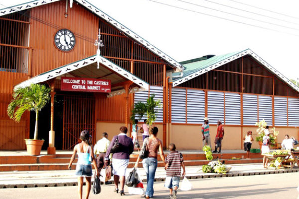 IMG: Castries Market is set to undergo a facelift.