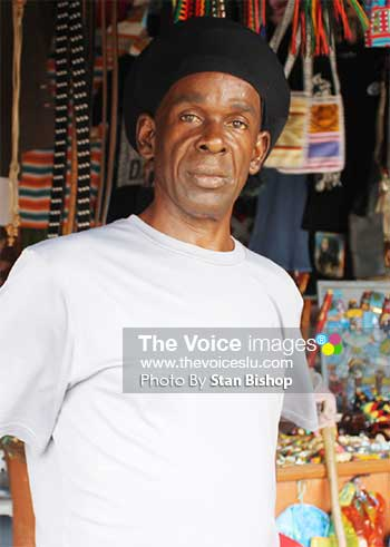 Image of President of St. Lucia Craft and Dry Goods Association, Peter 'RasIpa' Isaac