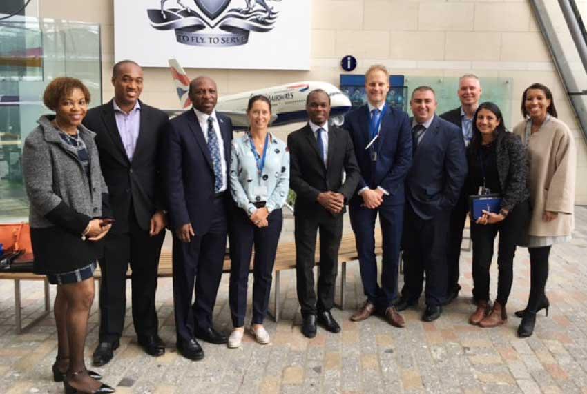 Image: Saint Lucia delegation with British Airways officials.