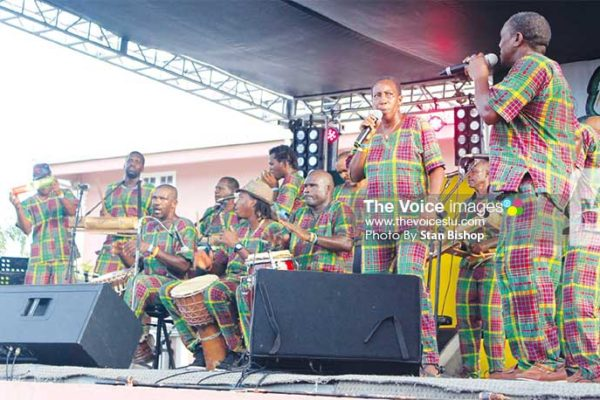Image: Flashback: Secret Band performs at Gaiety for Oktoberfest enKweyol, 2015. [PHOTO: Stan Bishop]