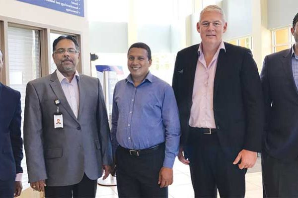 Image - (From left to right): Shomari Scott, Health City Marketing Director; PM Allen Chastanet; Minister Guy Joseph; Dr.Chandy Abraham, CEO and Health City Medical Director; and Minister Dominic Fedee.