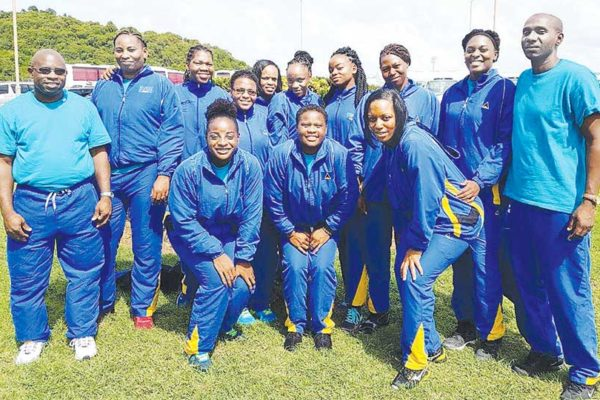 Image: Saint Lucia's team for Women's Continental Championship in Canada. (PHOTO: TJ)