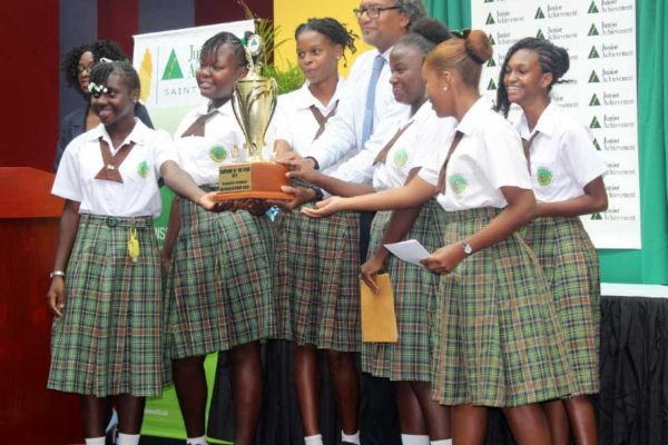 Image: 1st place Company of the Year -- Babonneau Secondary School.