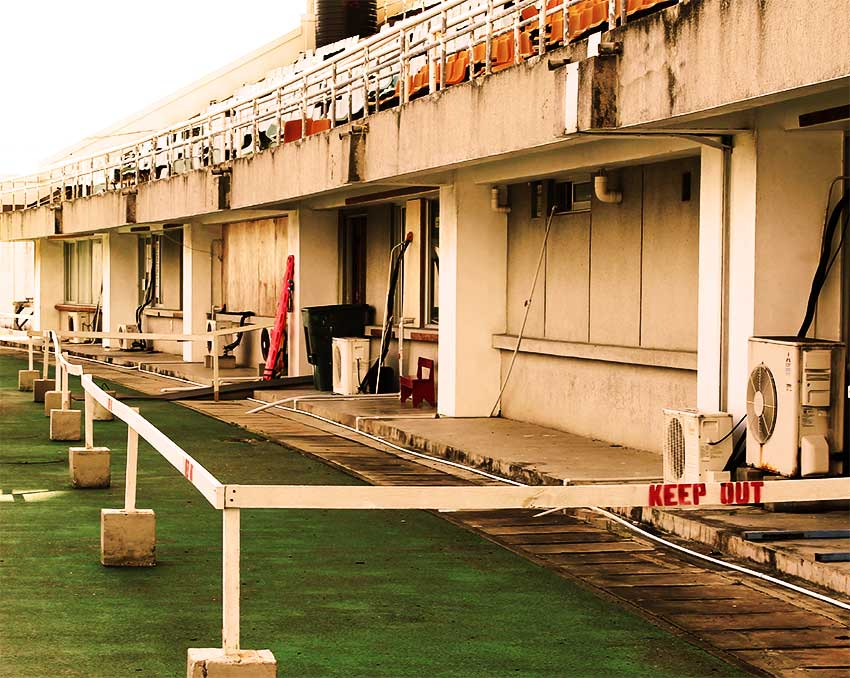 Image: A section of George Oldum Stadium where the hospital is housed. [PHOTO: Anthony De Beauville]