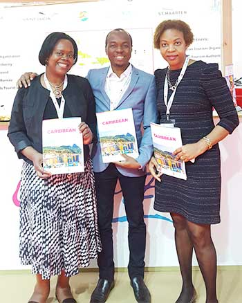Image: CTO Marketing Director for UK and Europe, Carol Hay, with Minister for Tourism, Dominic Fedee and SLTA Chair, Agnes Francis.