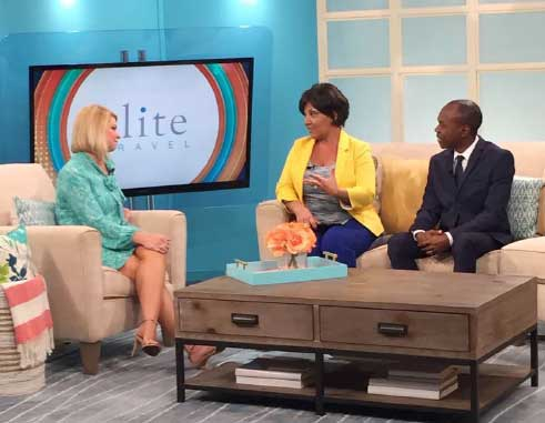 Image: Minister for Tourism, Dominic Fedee and CEO for Elite Travel, Tammy Levent, on ABC Tampa Bay's Morning Blend Show.