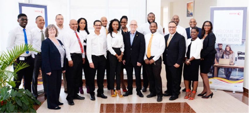 Image of J.E. Bergasse & Xerox team.