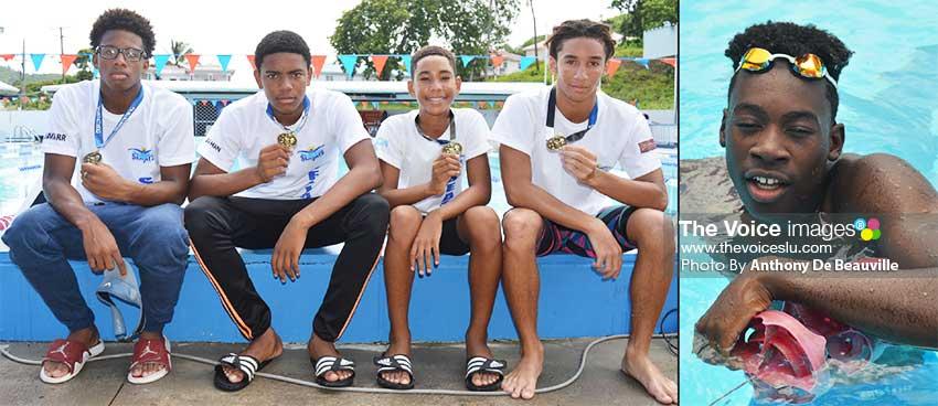 Image: (L-R) Jamarr Archibald, JayhanOdlum - Smith, D' Andre Blanchard TerrelMonplaisir and Omar Alexander. (PHOTO: Anthony De Beauville)
