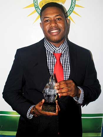 Image of 2017 Young Entrepreneur of the Year, Johanan Dujon.
