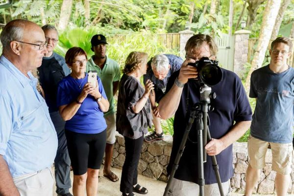 Image; Lafontaine (fourth from left) with other participants during the recent photography workshop.