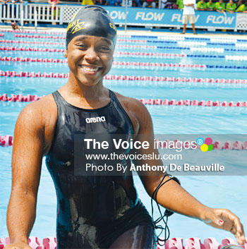 Image: Mikaela Casimir won the top-ranked swimmer award for 15 - 17 Girls (PHOTO: Anthony De Beauville)