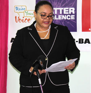 Image of Petra Jeffrey-Nelson of the advocacy group, Raise Your Voice (PHOTO: PhotoMike)