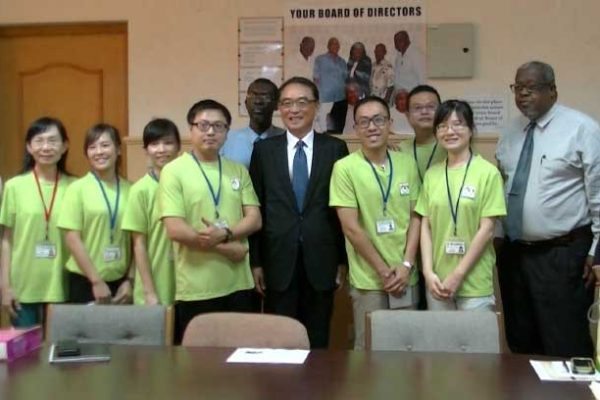 Image: Taiwanese Ambassador Douglas Chen, local government officials and the team of doctors from Taiwan during the recent welcome ceremony.