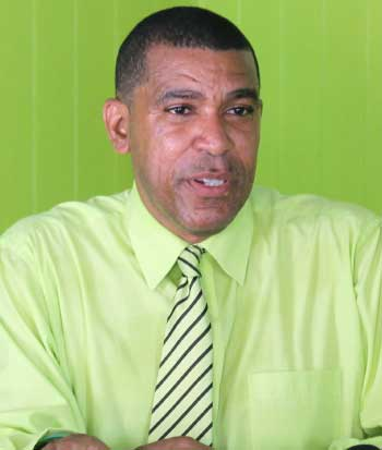 Image of Leader of the Lucian People's Movement (LPM), Therold Prudent