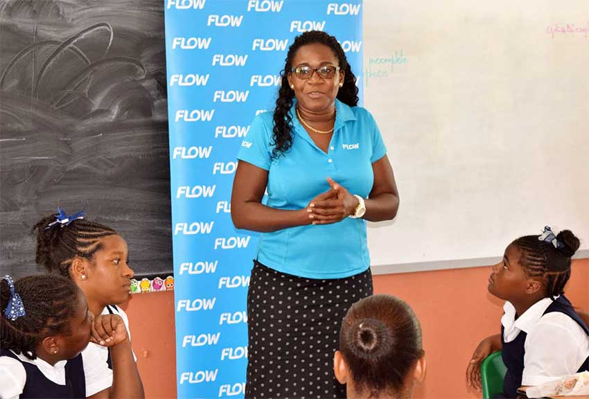 Image: Ave Maria Girls Primary students paying close attention to Adriana Mitchel-Gideon on International Internet Day.