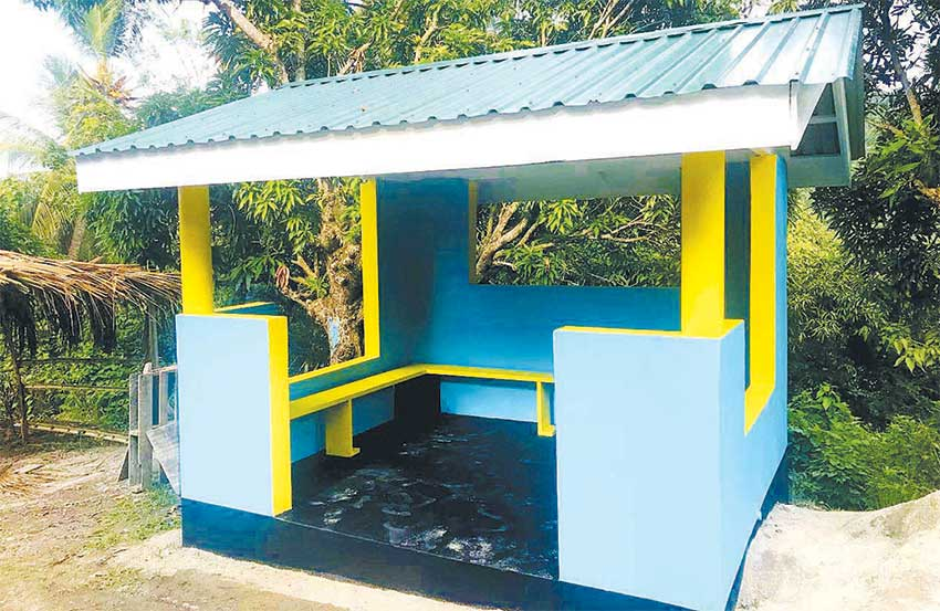 Image: Belvedere (Canaries) bus shelter after refurbishment.