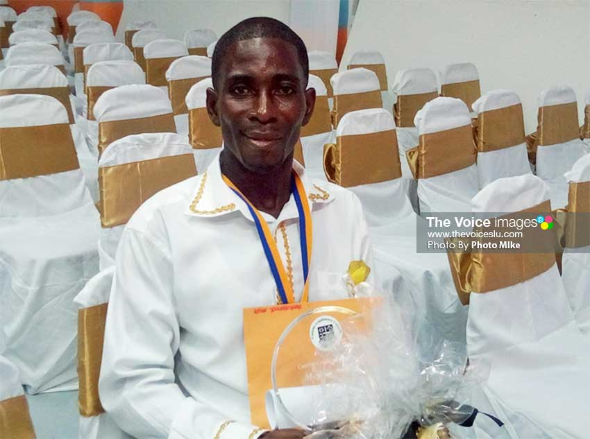 Image of Errol Cyril – Most Improved Award holder. (PhotoMike)