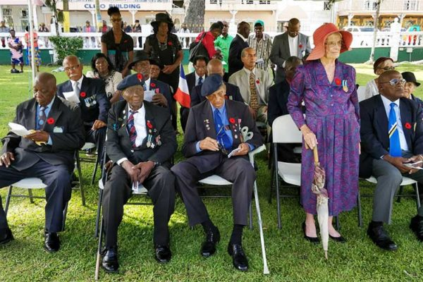 Image: Ex-Servicemen and families of veterans.