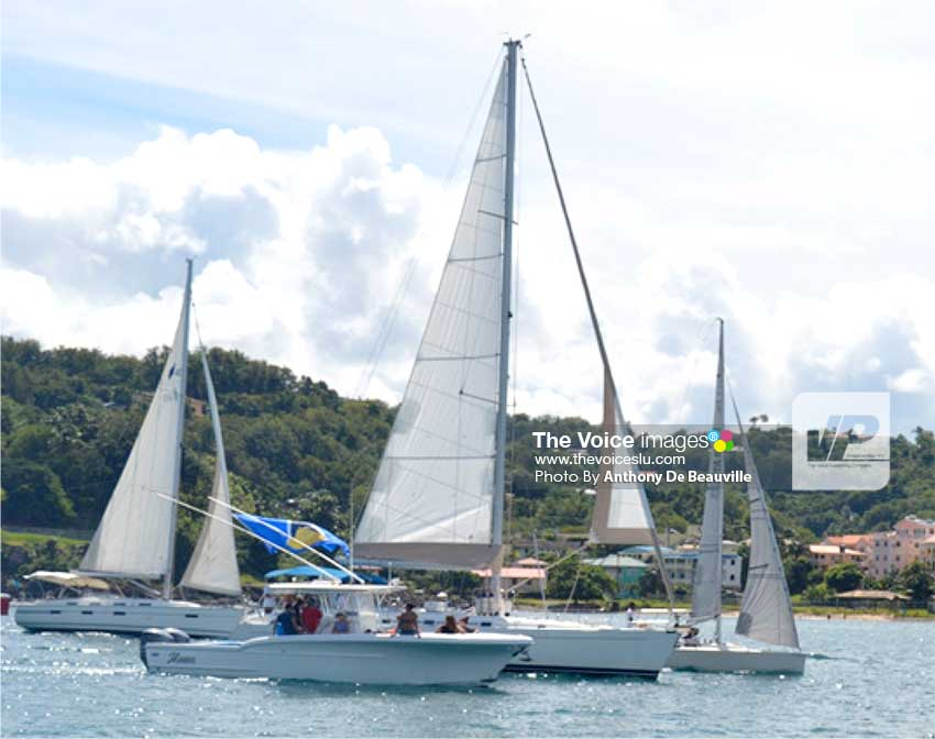 Image: Flotilla 2016 Participants making their way to the IGY Marina from the Castries Harbour. (Photo: Anthony De Beauville)