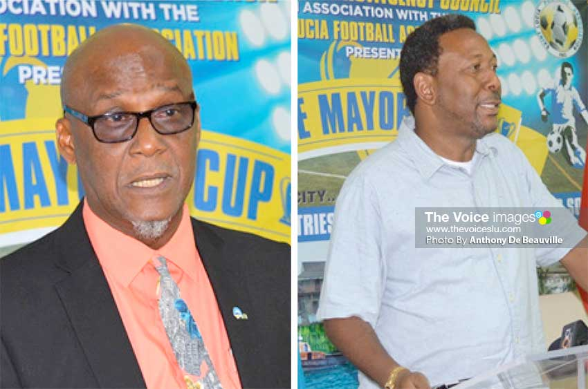Image: (L-R)Mayor of Castries Peterson Francis and SLFA President Lyndon Cooper at the official launch of the tournament. (Photo: Anthony De Beauville)