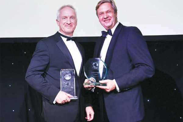 Image of Peter Collins, Executive Vice President of Operations, C&W Networks and Robert Boreel, International Accounts Director Voice, Liberty Global.
