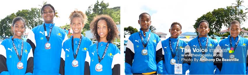 Image: Some of Saint Lucia's medal winners at the championship in the 8-9 boys and girls categories. (Photo: Anthony De Beauville)