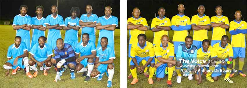 Image: (L-R) Valley Legends had a 3 - 1 win over Marchand; Caricom Masters defeat Canaries 1 - 0 (Photo: Anthony De Beauville)