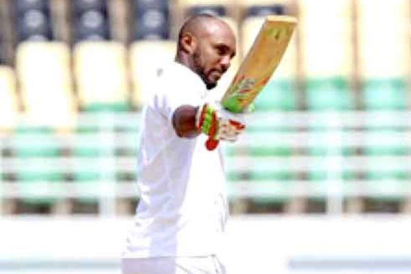 Image: West Indies batsman Sunil Ambris scored 153 in the 1st innings