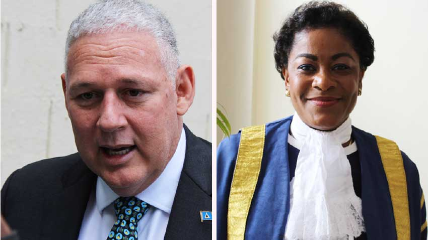 Image: Prime Minister and Minister for Finance, Economic Growth, Job Creation, External Affairs and the Public Service, Allen Chastanet & Honourable Speaker of the House, Mrs. Leonne Theodore-John