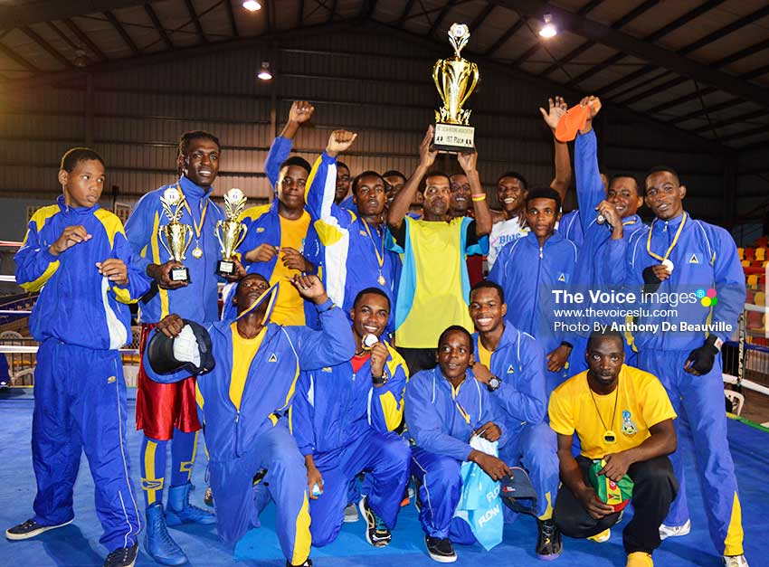 Image: A successful year for Saint Lucia Boxing; OECS and Creole Champions and fourth place finish at the Caribbean Developmental Championships (Photo: Anthony De Beauville)