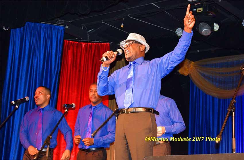 Image of Chester Hinkson leading the choir!